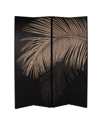 PALM LEAVES STANDING PANELS BLACK HAND CARVED