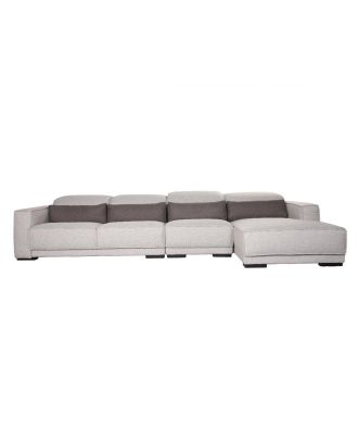SECTIONAL GREY WITH HEADREST