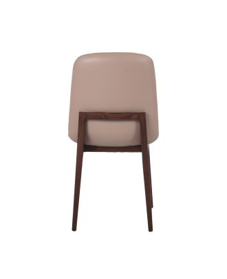DINING CHAIR BEIGE LEATHER