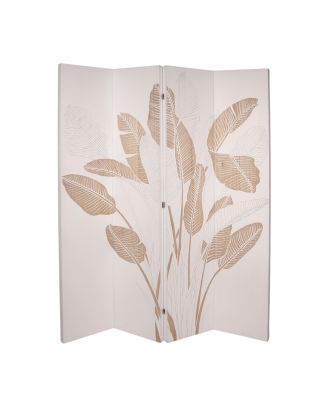 PALM LEAVES HAND CARVED STANDING PANELS WHITE