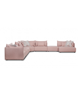 SECTIONAL SOFA (7PC)  PINK