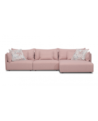 SECTIONAL SOFA RIGHT CHAISE PINK