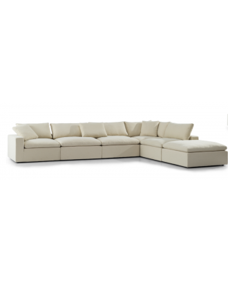 SECTIONAL LIGHT BROWN