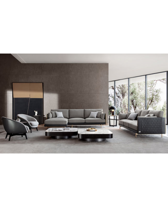 MESSINA SECTIONAL SOFA  FABRIC AND LEATHER