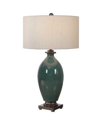 KEYLA TABLE LAMPN GREEN CERAMIC