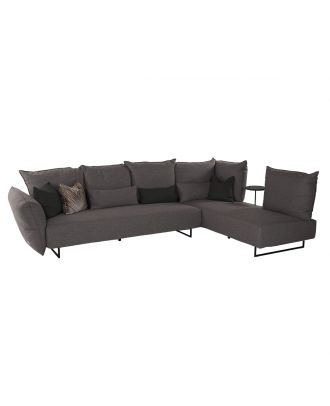 SECTIONAL GREY WITH SERVICE TABLE