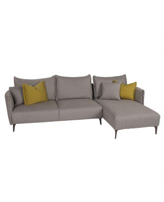 VERONA SECTIONAL EMBROIDERED LIGHT GREY