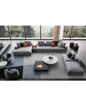 ROME SECTIONAL GREY