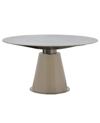 DINING TABLE WHITE MARBLE TOP