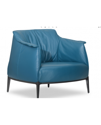 CHAIR LEATHER - BLUE