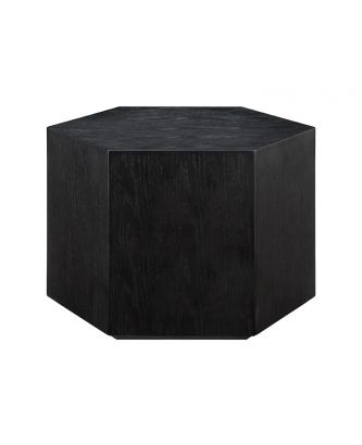 LOW HEX END TABLE- BLACK