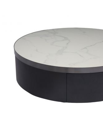 ROUND COFFEE TABLE BROWN