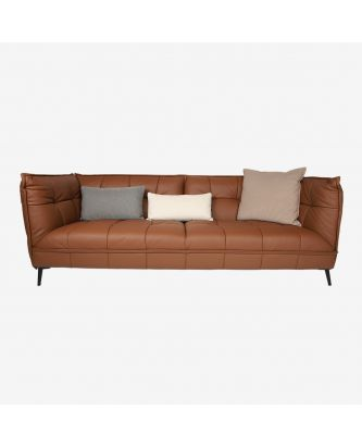 4 SEATER SOFA BROWN (leather)