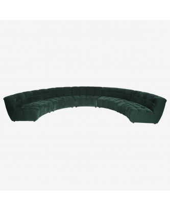 ROUND GREEN  SECTIONAL SOFA